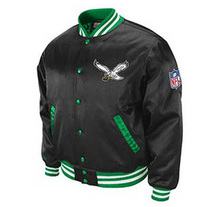NFL Philadelphia Eagles Screen Satin Jacket Mitchell Ness 2XL XXLarge Throwback