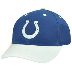 NFL INDIANAPOLIS COLTS COTTON WHITE BLUE VELCRO HAT CAP