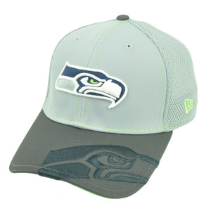 NFL New Era 39Thirty Seattle Seahawks Logo Crop Neo Flex Fit S/M Stretch Hat Cap