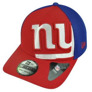 NFL New Era 3930 New York Giants Flex Fit Medium Large Logo Blimp Neo Hat Cap