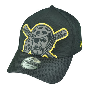 MLB New Era 39Thirty Pittsburgh Pirates Build Up Flex Fit M/L Stretch Hat Cap