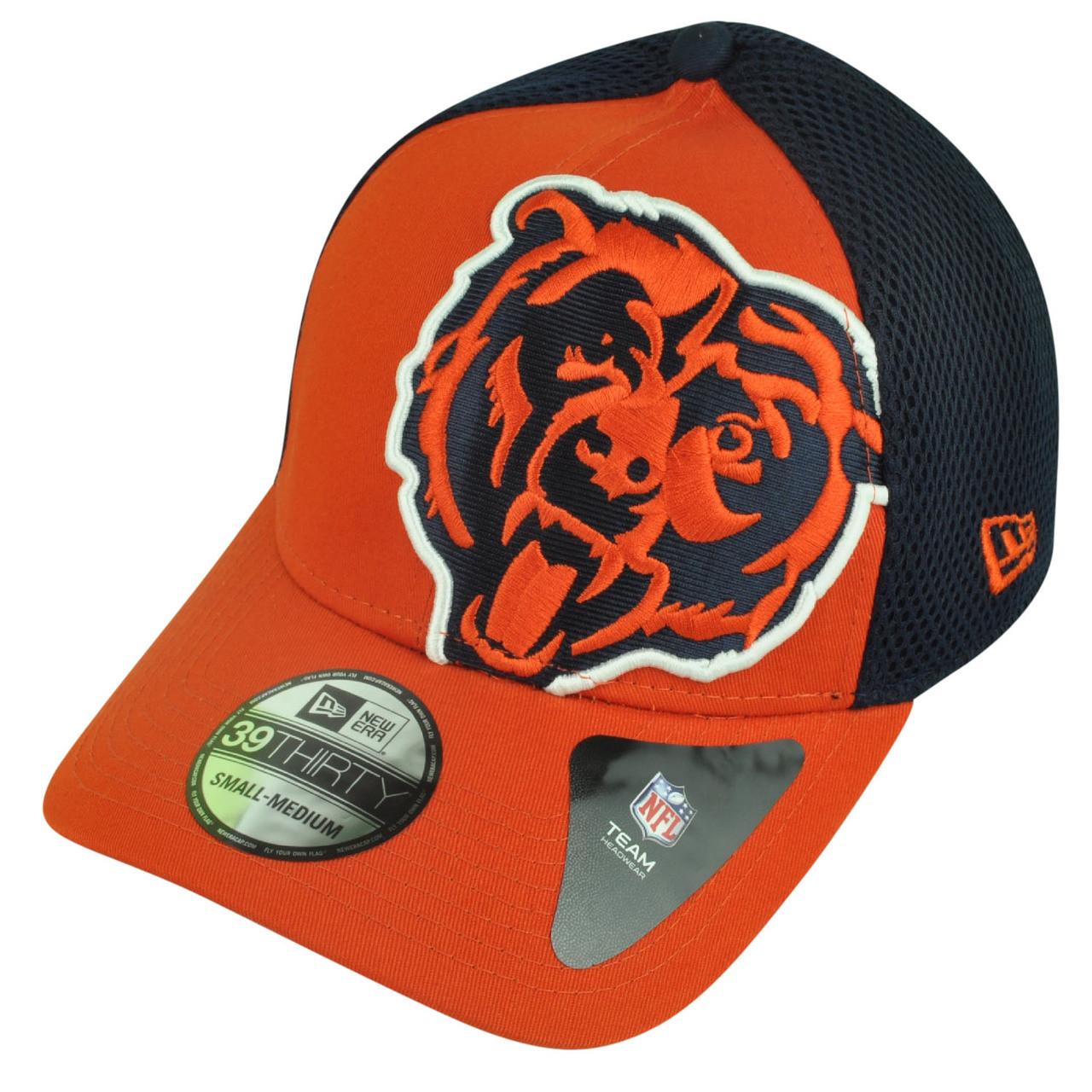 NFL New Era 3930 Chicago Bears Flex Fit Small Medium Logo Blimp Neo ... 091429621d43