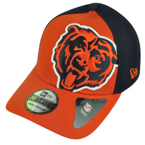 NFL New Era 3930 Chicago Bears Flex Fit Small Medium Logo Blimp Neo Hat Cap
