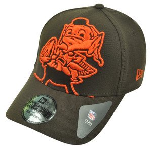 NFL New Era 3930 Cleveland Browns Flex Fit Large XLarge Magnifier Hat Cap Brown