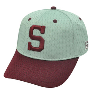 HAT CAP MISSOURI STATE BEARS MSU GRAY MAROON RED FITTED SIZE 6 7/8 NCAA LICENSED