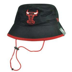 NBA New Era Chicago Bulls Basic Action Sun Bucket Outdoor Fishing XLarge Hat Blk