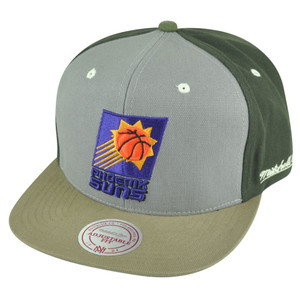 NBA Mitchell Ness Phoenix Suns NJ14 Tri Green Snapback Flat Bill Hat Cap HWC