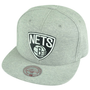 NBA Mitchell Ness HWC Brooklyn Nets NS67 Heather Special Script Snapback Hat Cap