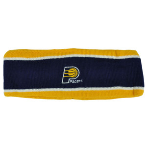 NBA Indiana Pacers Fleece Navy Head Sweat Sports Band Basketball Double Stripe