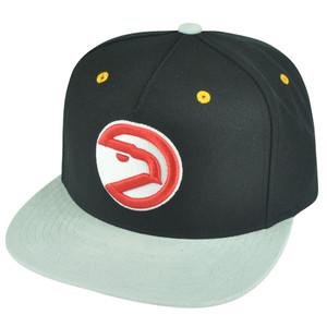 NBA Mitchell Ness Atlanta Hawks NT54 Grey Cord Visor Strapback Buckle Hat Cap