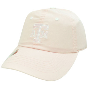 NCAA Texas A&M Aggies Womens Pink Garment Wash Slouch Relax Sun Buckle Hat Cap
