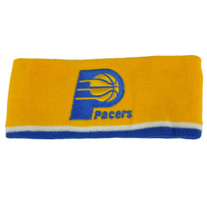 NBA Indiana Pacers Exercise Head Sweat Band Sports Basketball Fan Gear Yellow