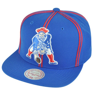 NFL Mitchell Ness New England Patriots NJ31 Panel Outline Retro Snapback Hat Cap