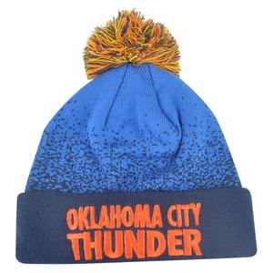 NBA Mitchell Ness Title Knit KM11 Cuffed Pom Pom Beanie Oklahoma City Thunder