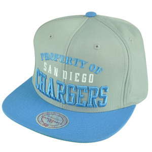 NFL Mitchell Ness San Diego Chargers Property Of VE71 Zipper Strapback Hat Cap