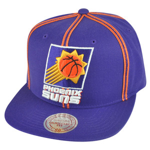 NBA Mitchell Ness HWC Phoenix Suns NJ08 Panel Outline Retro Snapback Hat Cap