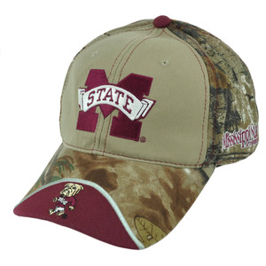 NCAA Mississippi State Bulldogs Realtree Camouflage Relaxed Sun Buckle Hat Cap