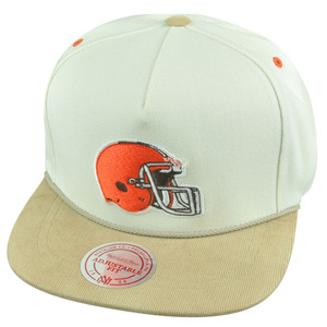 NFL Mitchell Ness Cleveland Browns NK34 Corduroy Suede Strapback Buckle Hat Cap