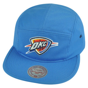 NBA Mitchell Ness Oklahoma City Thunder Y356Z Solid Team Camper 5 Panel Hat Cap