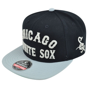 MLB American Needle Chicago White Sox Giant Chamber Throwback Snapback Hat Cap