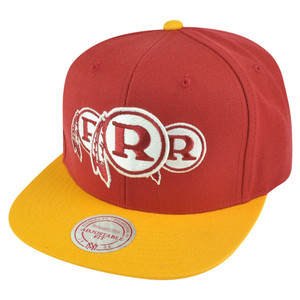 NFL Mitchell Ness Washington Redskins NP97 Triple Stack Logo Snapback Hat Cap