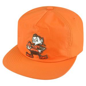 NFL Mitchell Ness NK84 Zipback Flat Bill Vintage Logo Cleveland Browns Hat Cap