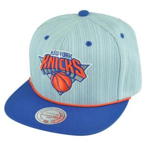 NBA Mitchell Ness VB39 Striped Demin Snapback Hat Cap New York Knicks Flat Bill