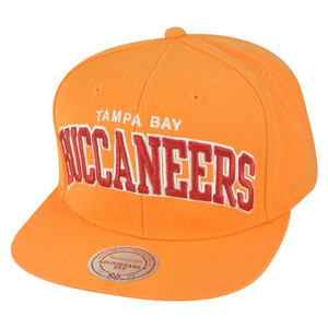 NFL Mitchell Ness Tampa Bay Buccaneers NL21 Arch Solid Orange Snapback Hat Cap