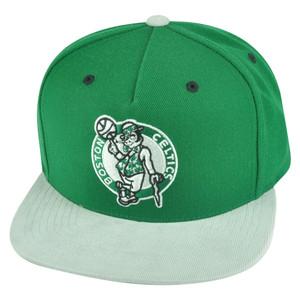 NBA Mitchell Ness Boston Celtics NT54 Grey Cord Visor Strapback Buckle Hat Cap