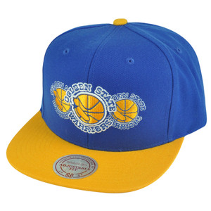 NBA Mitchell Ness Golden State Warriors NP57 Triple Stack Logo Snapback Hat Cap