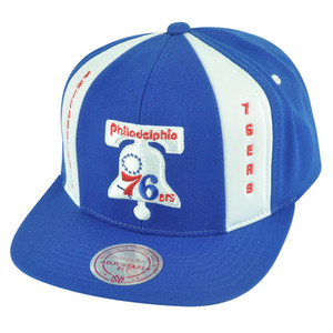 NBA Mitchell Ness Philadelphia 76ers ND04 Panel Down Snapback Flat Bill Hat Cap