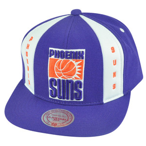 NBA Mitchell Ness HWC Phoenix Suns ND04 Panel Down Snapback Flat Bill Hat Cap