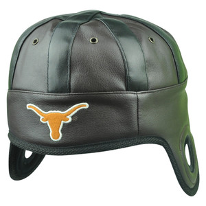 NCAA Texas Longhorns Helmet Head Game Day Faux Leather Hat Cap Brown One Size