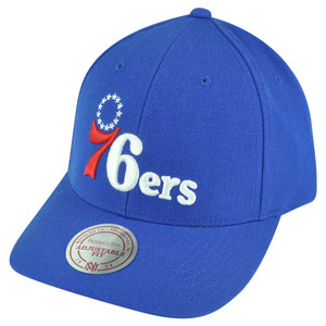 NBA Mitchell Ness Philadelphia 76ers NJ07 Low Pro Coaches Snapback Hat Cap HWC