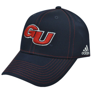 NCAA Gonzaga GU Bulldogs Flex Fit Small Medium Sm Med Adidas Blue Red Hat Cap