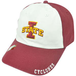 NCAA Iowa State Cyclones Captain Garment Wash Strapback Velcro Slouched Hat Cap