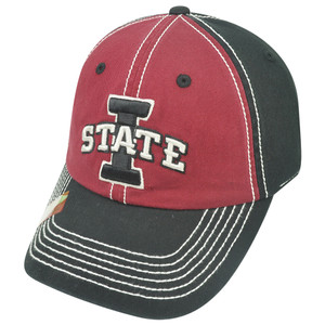NCAA Iowa State Cyclones Darkness Contrast Stitch Garment Wash Velcro Hat Cap