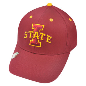 NCAA Iowa State Cyclones Fan Twill Logo Constructed Strapback Velcro Hat Cap