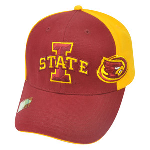NCAA Iowa State Cyclones Duo Logo Adjustable Strapback Velcro College Hat Cap