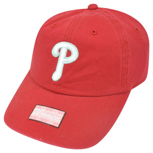 MLB Fan Favorite Philadelphia Phillies Shiver Red Garment Wash Buckle Hat Cap