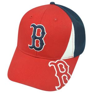 MLB Fan Favorite Boston Red Sox Citizen Logo Adjustable Baseball Velcro Hat Cap