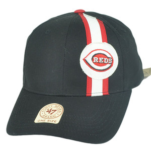 MLB '47 Brand Cincinnati Reds Stripes Adjustable Baseball Strapback Hat Cap