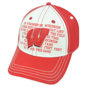 NCAA Wisconsin Badgers Fight Song Strapback Velcro College Adjustable Hat Cap