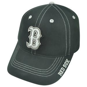 MLB Fan Favorite Boston Red Sox Felt Frost Contrast Stitch Adjustable Hat Cap