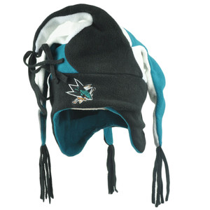 NHL San Jose Sharks Game Day Jester Fleece Knit Beanie Joker Fan Winter Hat