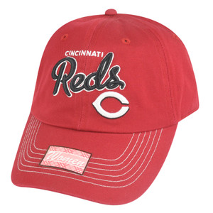 MLB Cincinnati Reds Girlfriend Women Ladies Garment Wash Strapback Relax Hat Cap