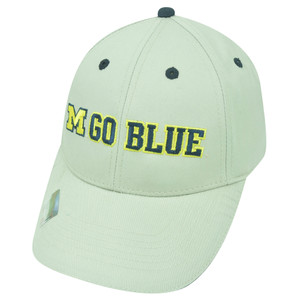 NCAA Michigan Wolverines Go Blue Twill Cotton Velcro College Strapback Hat Cap