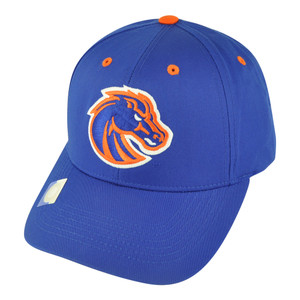 NCAA Boise State Broncos Tip Top Velcro Twill Cotton Adjustable Blue Hat Cap