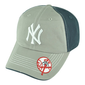 MLB New York NY Yankees Chasm Garment Wash Adjustable Snap Buckle Slouch Hat Cap