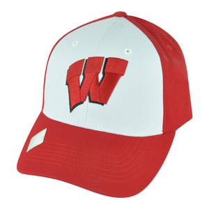 NCAA Wisconsin Badgers Freshman Velcro Two Tone Adjustable Hat Cap Twill Cotton